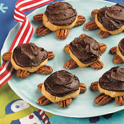 Frosted Turtle Cookies