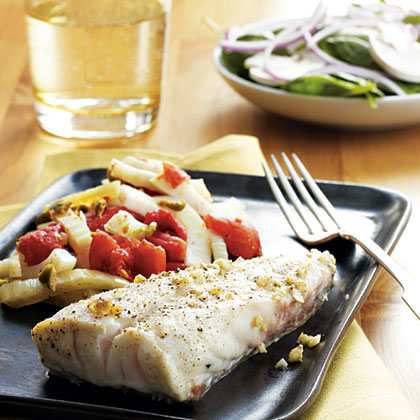 Pan-Roasted Grouper with Provencal Vegetables