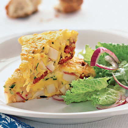 Spanish Omelet with Potatoes and Chorizo