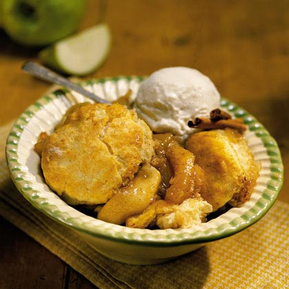 Apple-Vinegar Biscuit Cobbler
