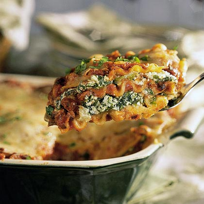 Spinach-Black Bean Lasagna
