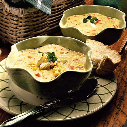 Sweet Corn Soup with Crab