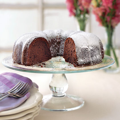 Buttermilk-Mexican Chocolate Pound Cake