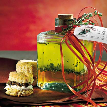 Cream Cheese-and-Olive Biscuits With Olive-Parsley Spread