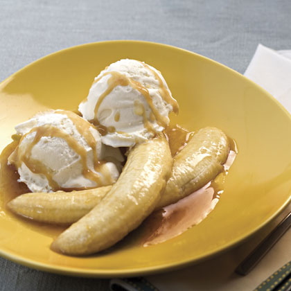 Tequila-Flambéed Bananas With Coconut Ice Cream