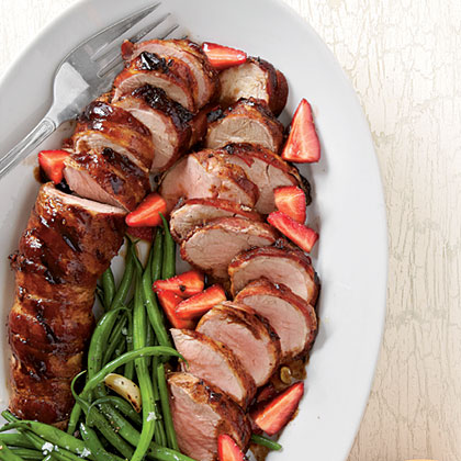Pork Tenderloins with Balsamic Strawberries