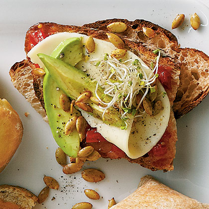 Avocado and Sprout Sandwiches