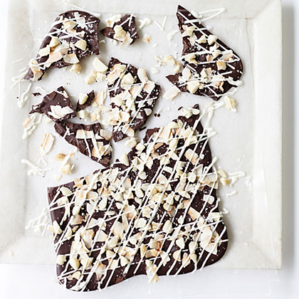 Coconut, Macadamia Nut, and Dark Chocolate Bark