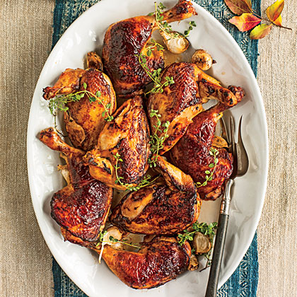 Molasses-Brined Roasted Chicken