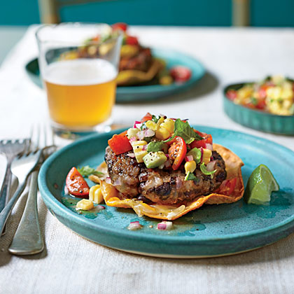 Black Bean Cakes with Avocado-Corn Salsa