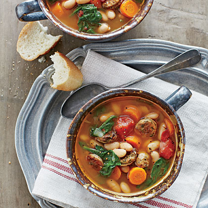 Chicken Sausage and White Bean Stew