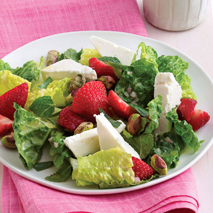 Herbed Romaine Salad with Strawberries