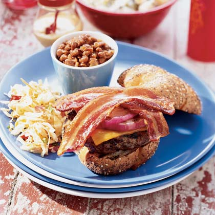Quick Baked Beans with Smoked Bacon