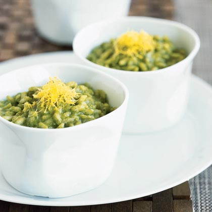 Spinach Risotto with Roquefort