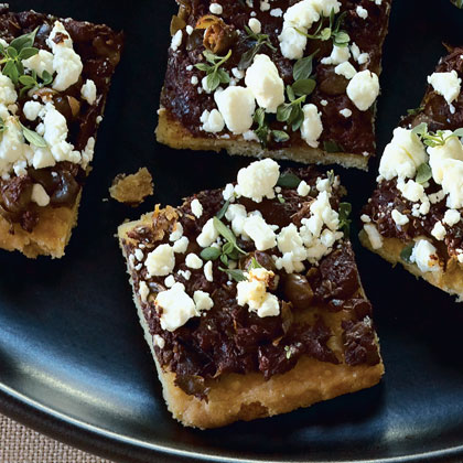 Tapenade–Goat Cheese Canapés