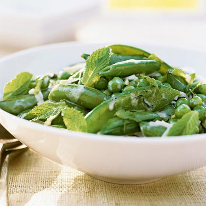 Three Peas with Leeks, Mint, and Cream
