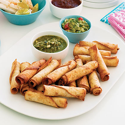 Bean and Chicken Taquitos