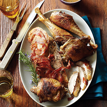 Heritage Turkey with Crisped Pancetta and Rosemary