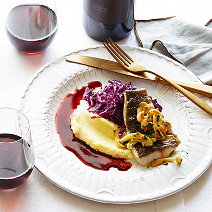 Black Cod with Red Cabbage and Pomegranate Brown Butter