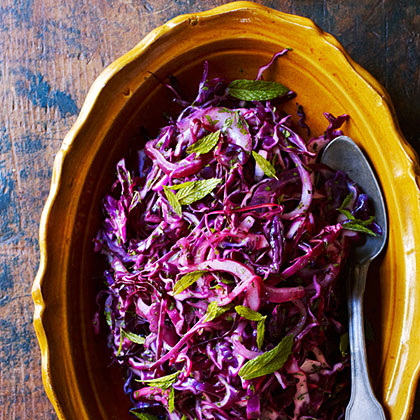 Wilted Red Cabbage with Mint
