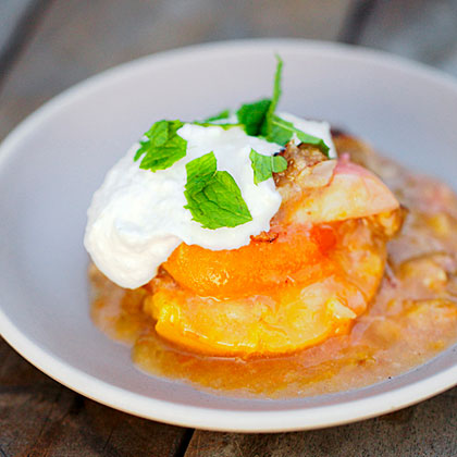 Stone Fruit Crumble with Ricotta and Mint