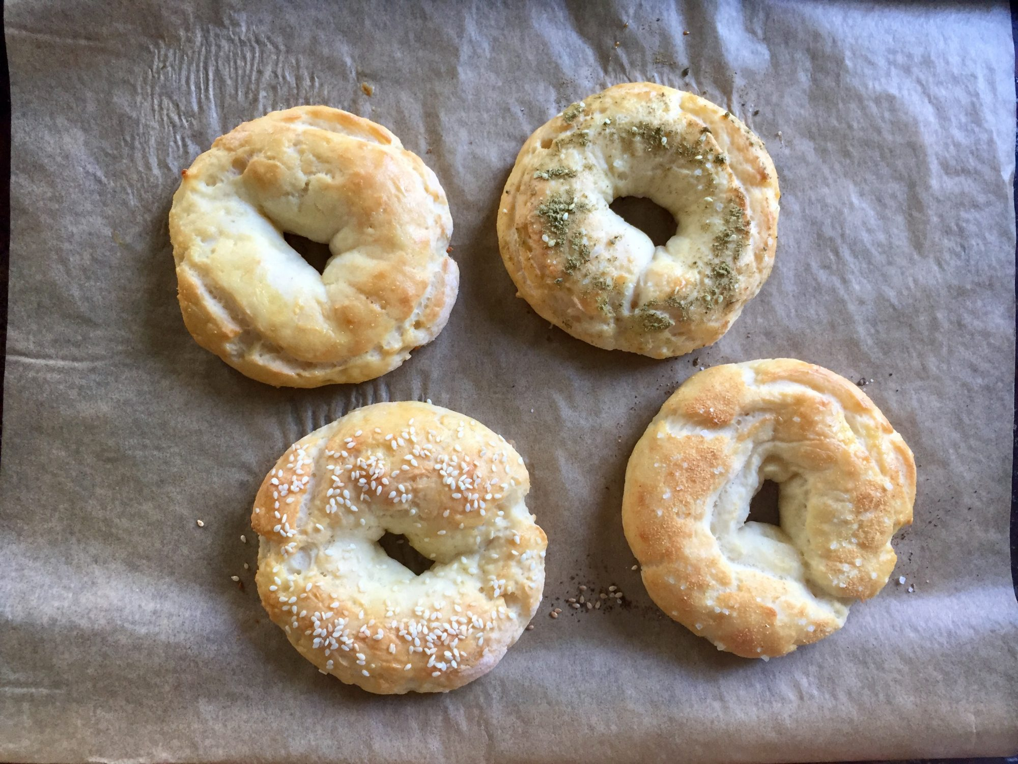 two-ingredient-bagels-baked