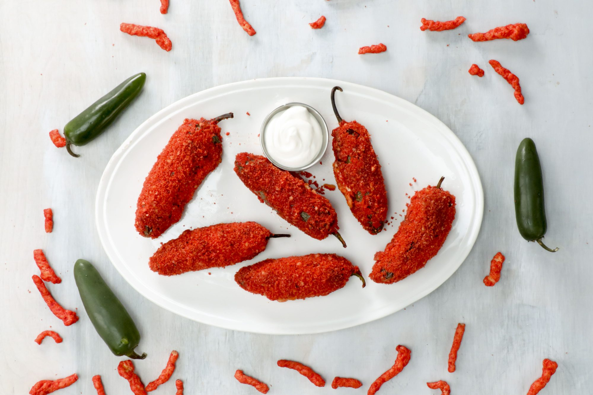 Flamin' Hot Cheetos Stuffed Jalapeños image