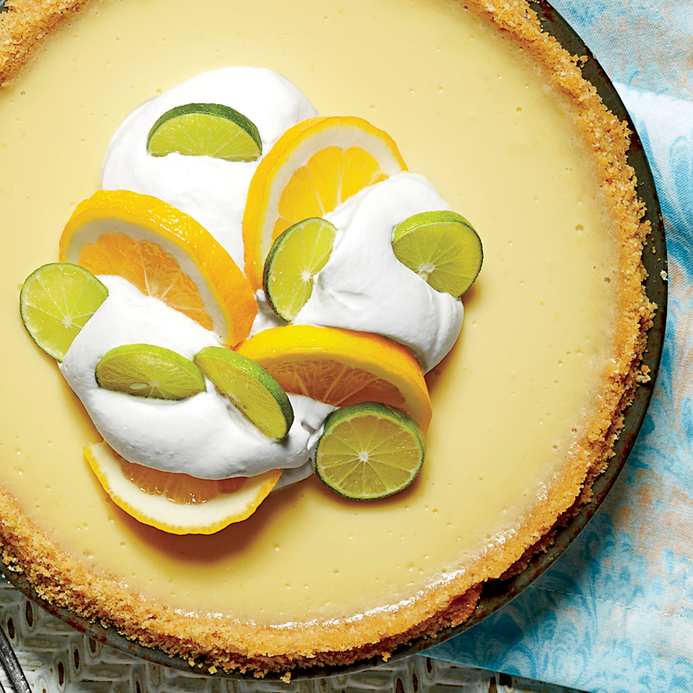 sl-Key Lime-Buttermilk Icebox Pie with Baked Buttery Cracker Crust Image