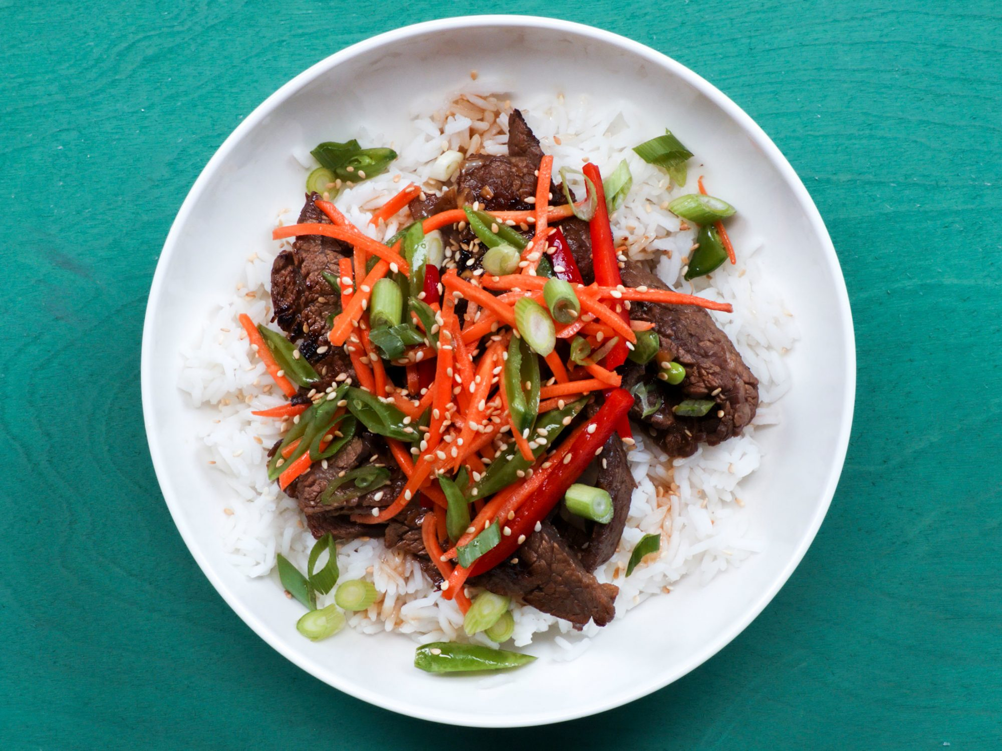 Korean Stir-Fried Beef Bowl image