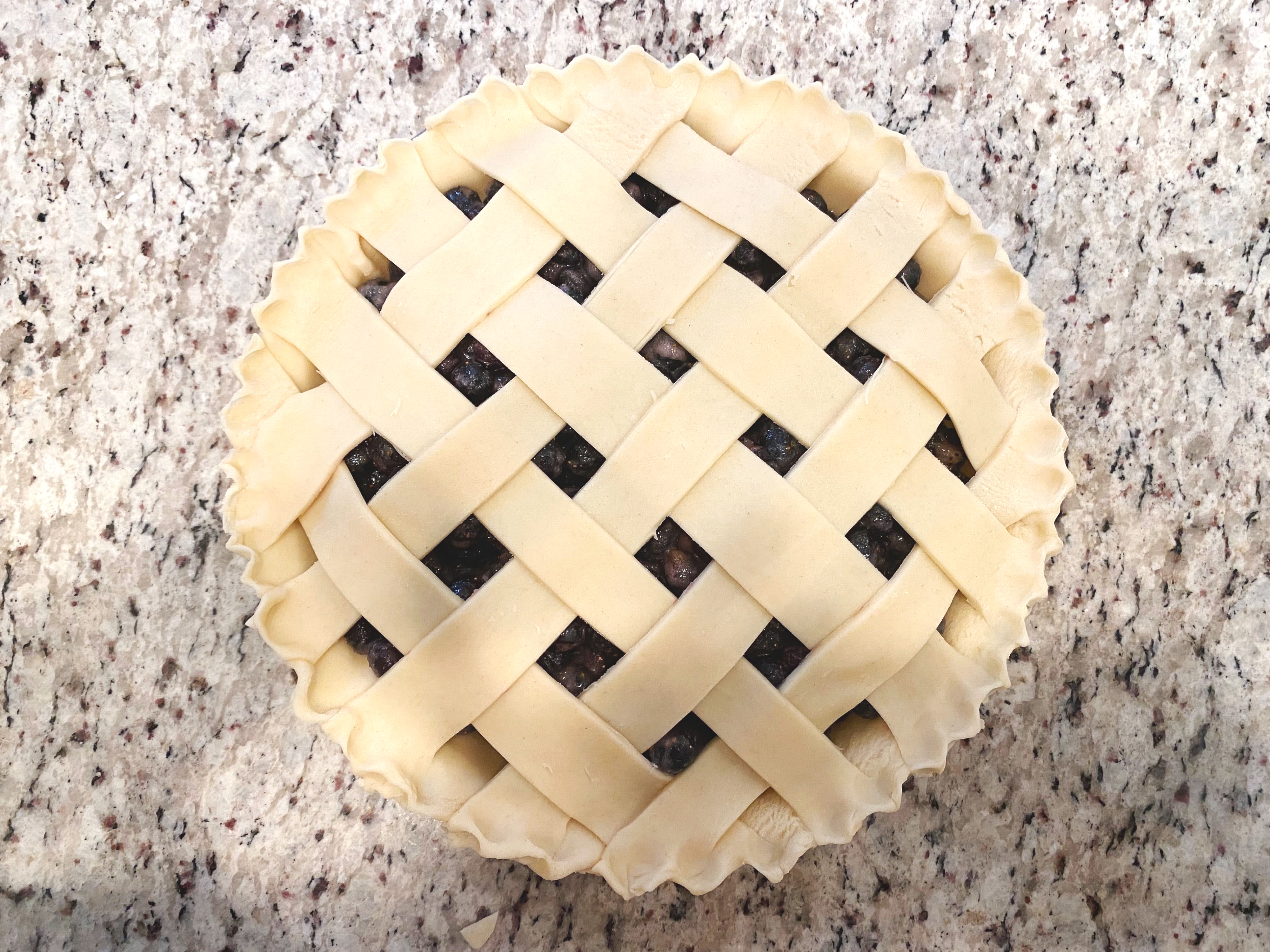 Lattice Pie Crust Step 7