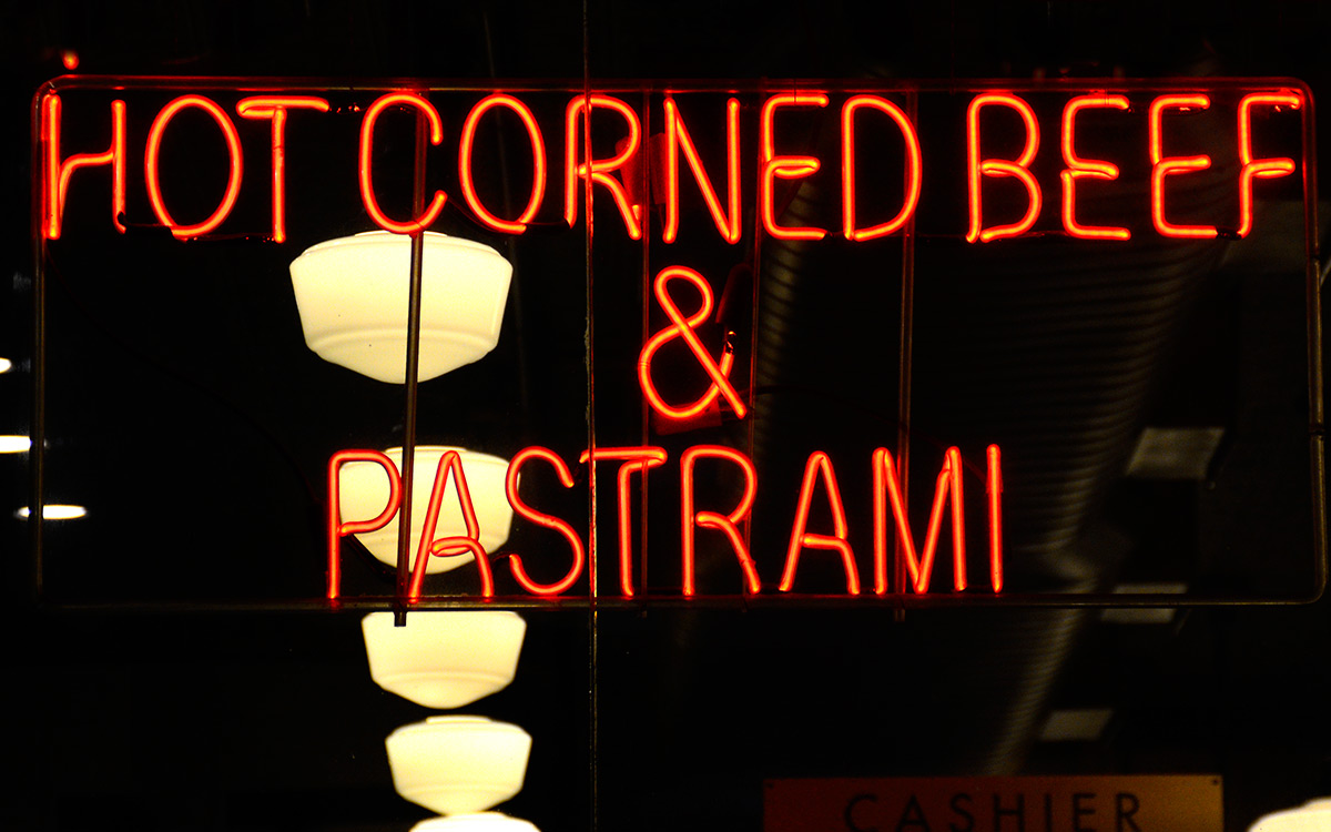 pastrami and corned beef sign