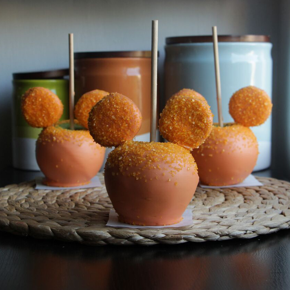 Mickey Mouse Dipped Apples
