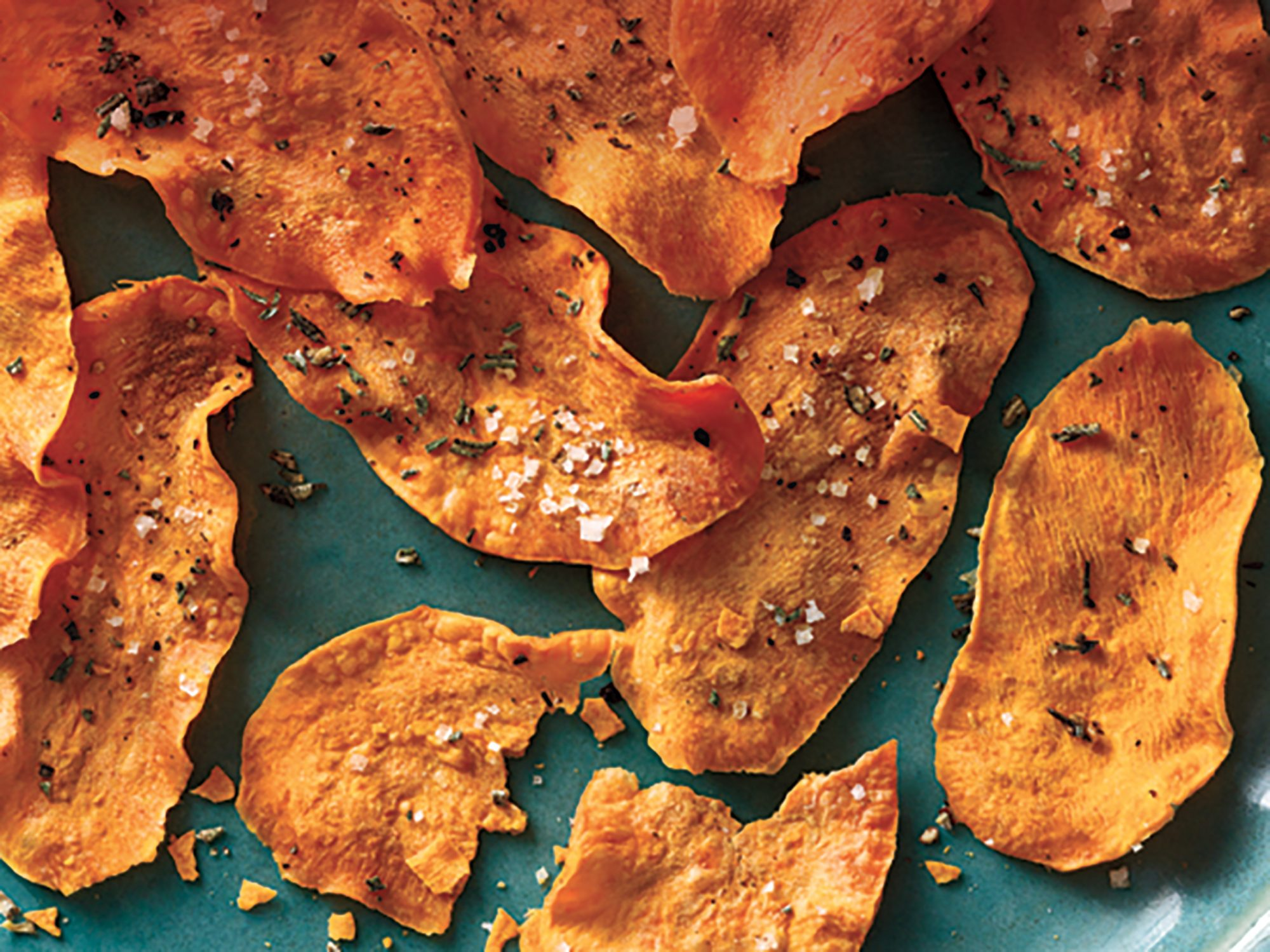 Microwave Sweet Potato Chips