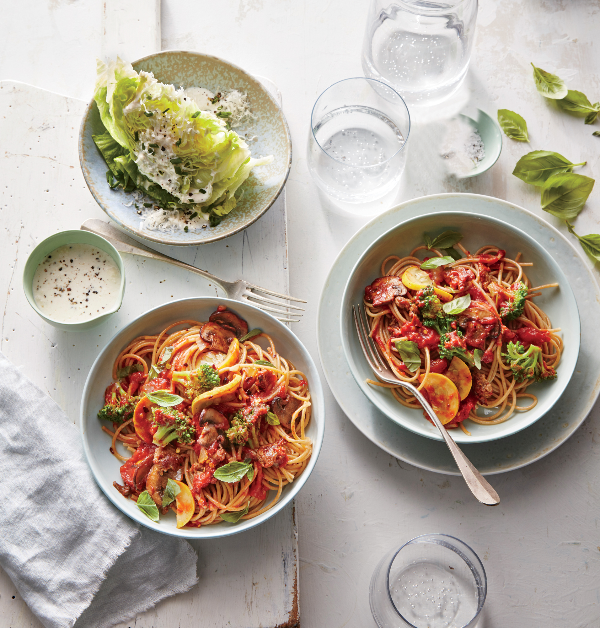 Mostly Veggie Pasta with Sausage
