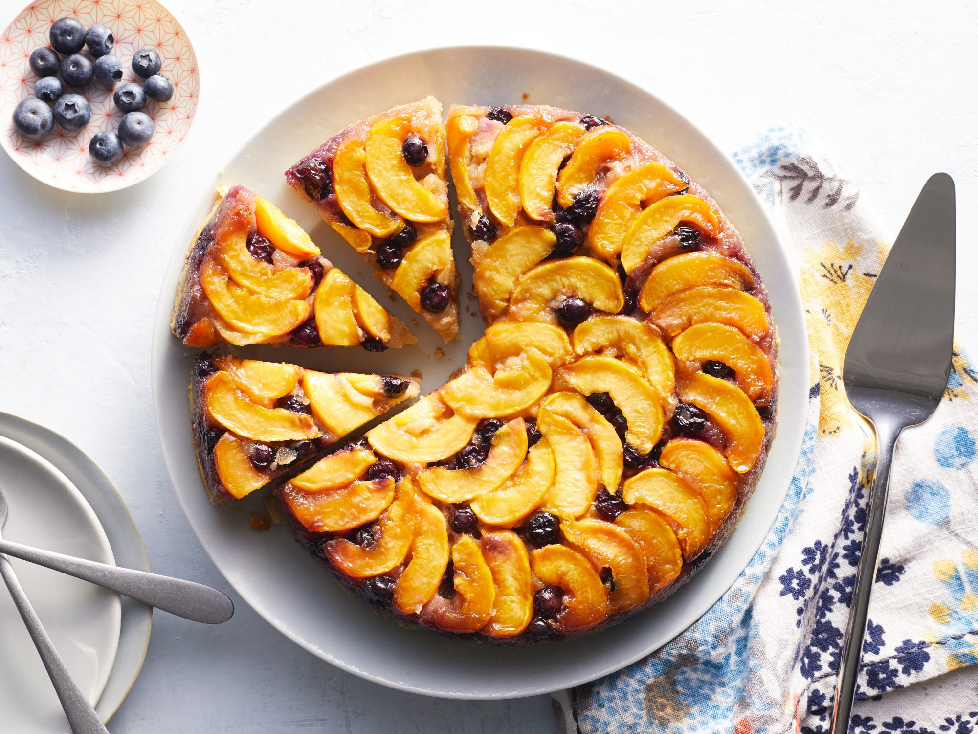 Blueberry-Peach Upside Down Cake image