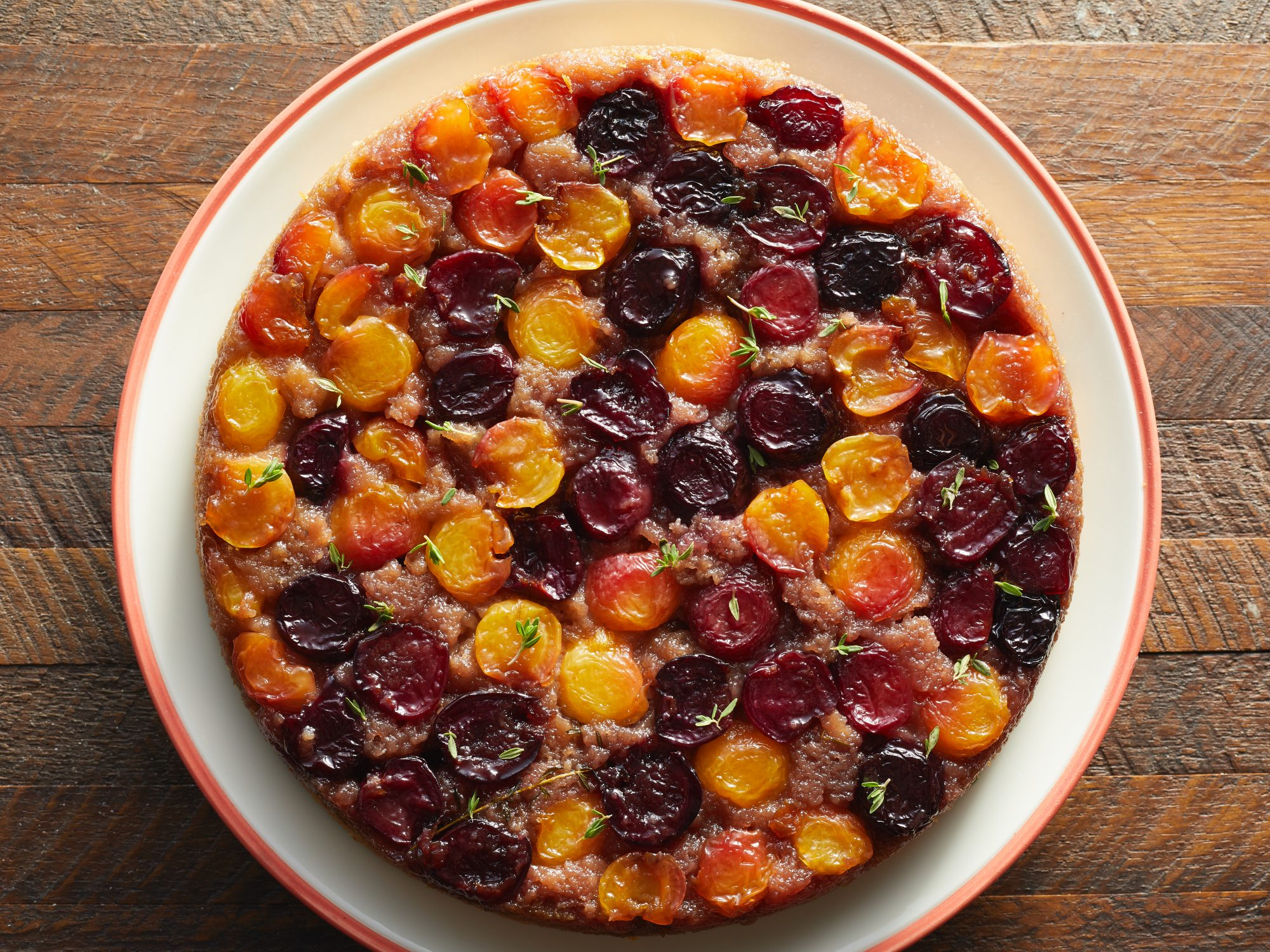 Cherry-Thyme Upside Down Cake image