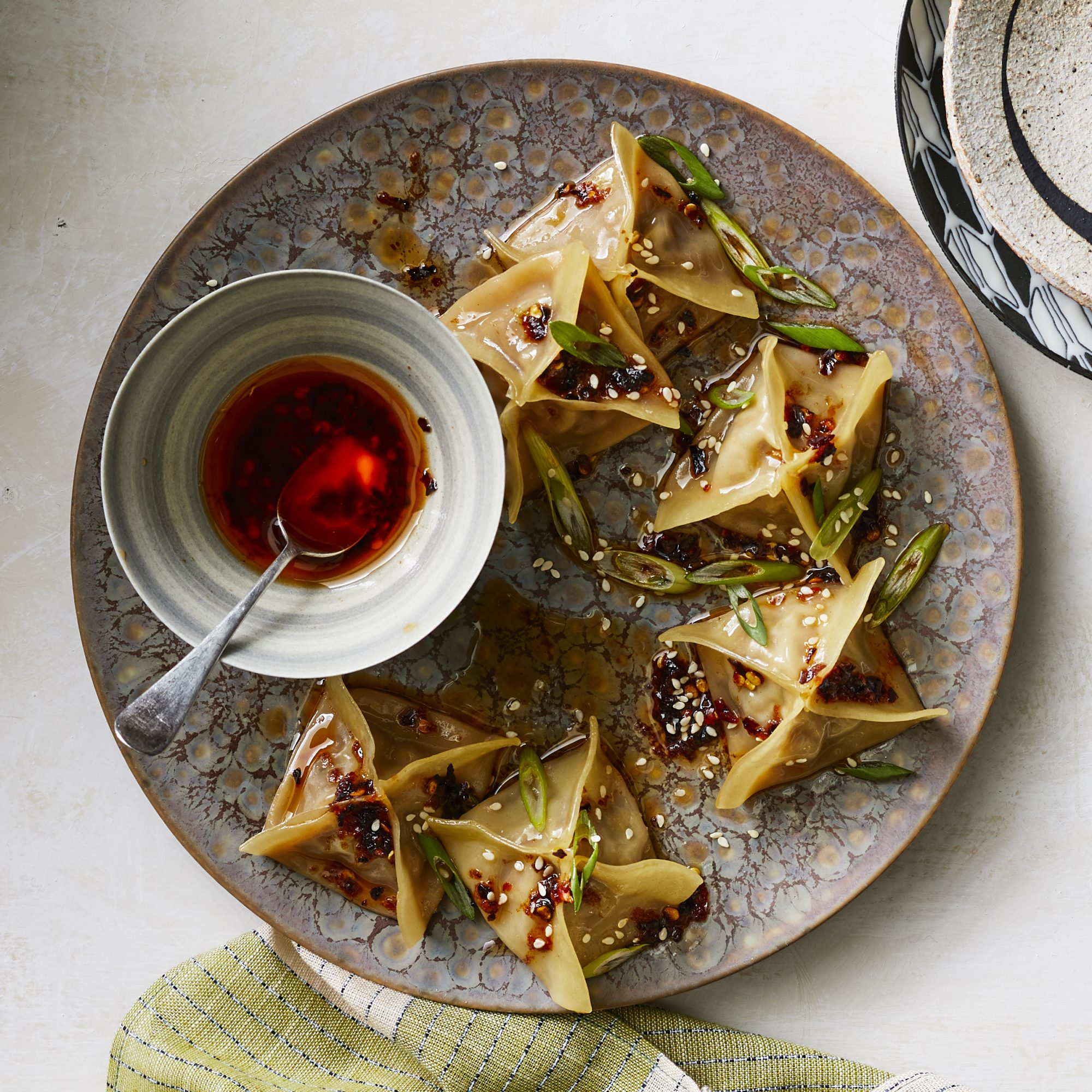 Pan-Fried Beef and Scallion Dumplings image