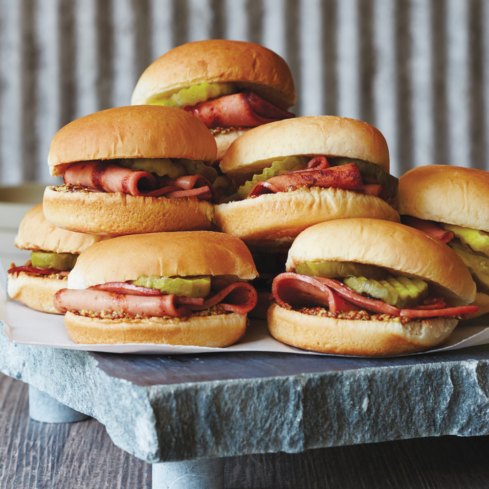Pan-Fried Bologna Sliders