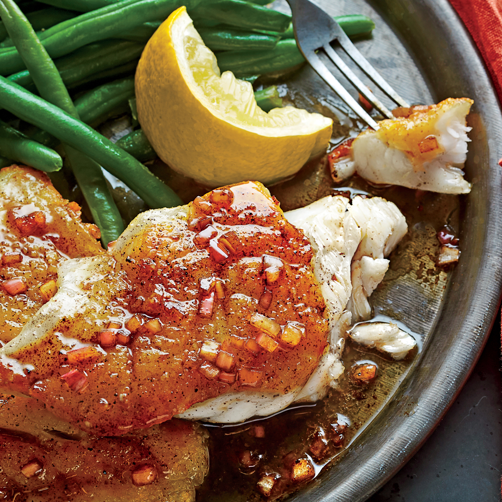 Pan-Seared Grouper with Balsamic Brown Butter Sauce