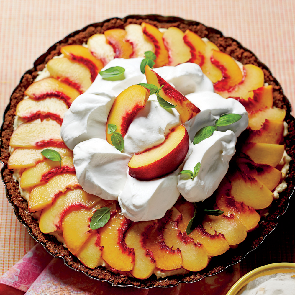 Peach Divinity Icebox Pie