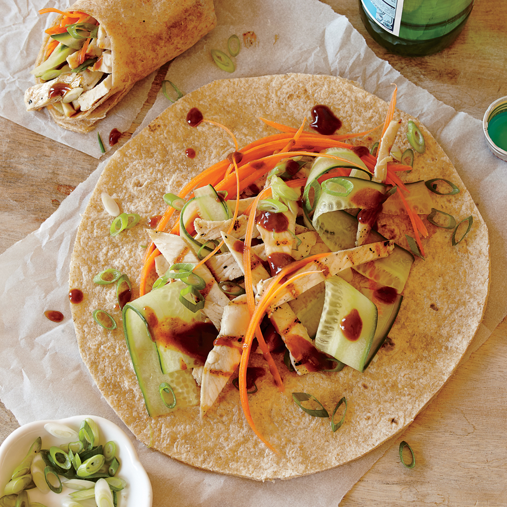 Peking Turkey Wraps