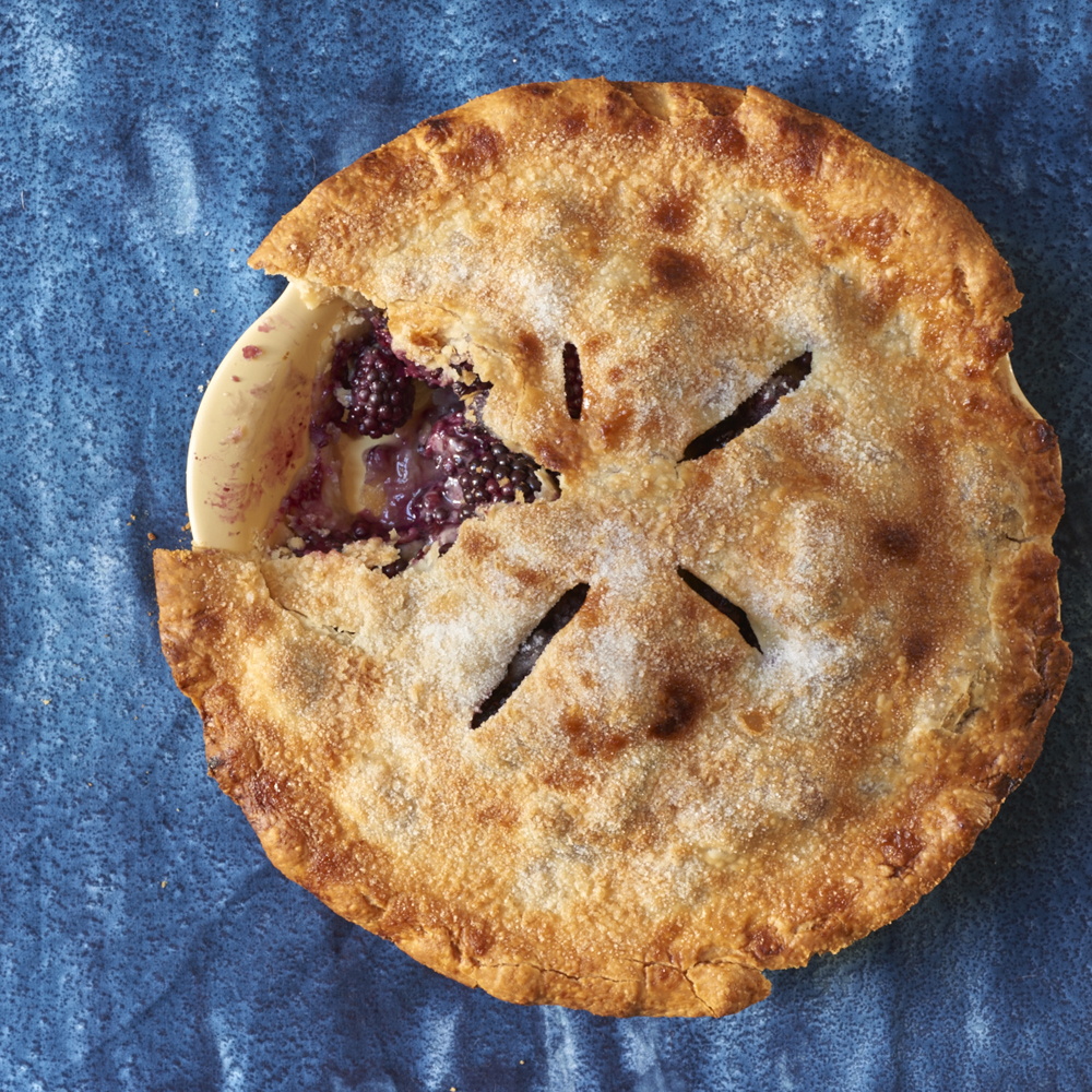 Perfectly Easy Blackberry Pie
