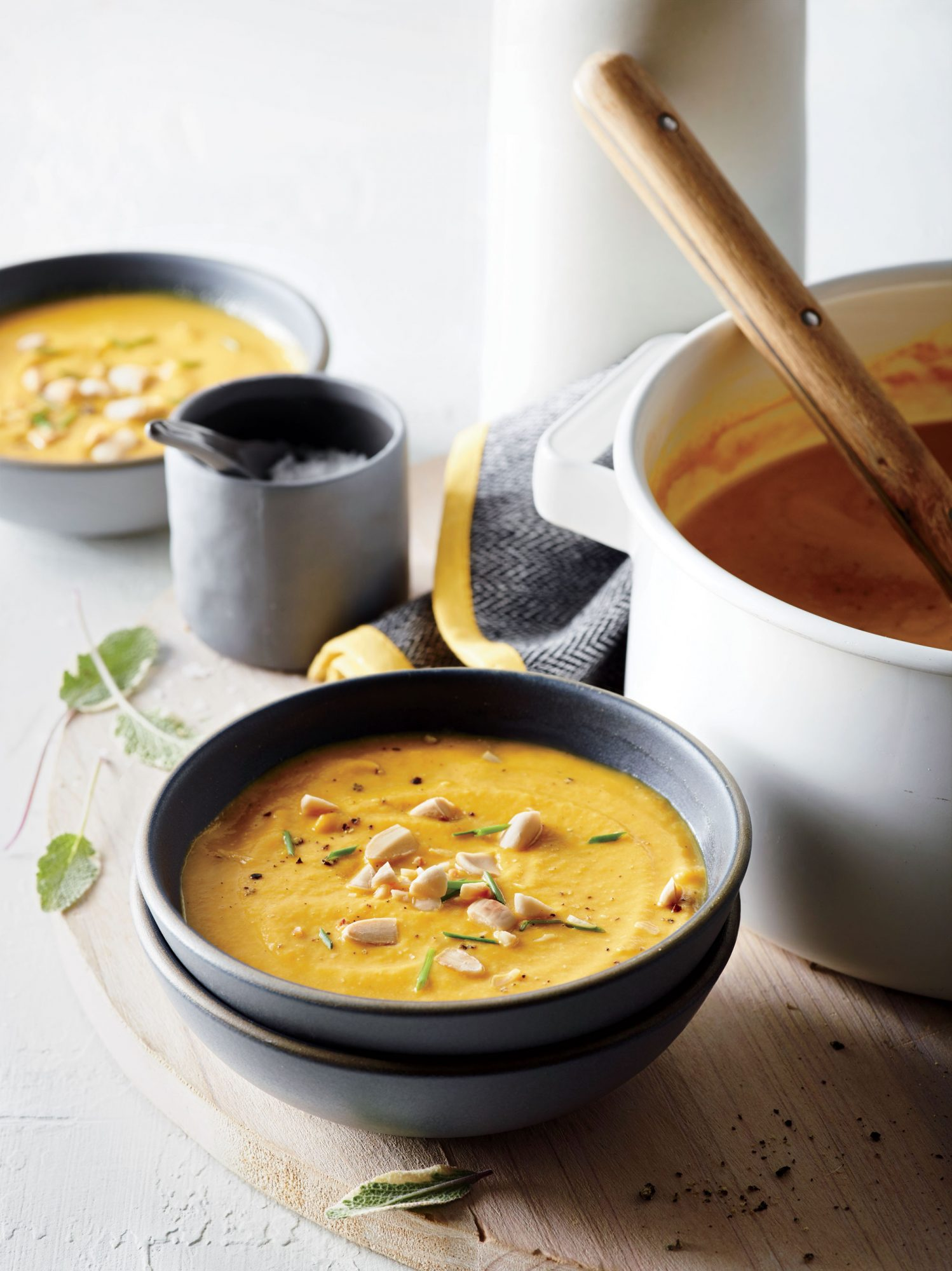 Pumpkin Soup with Almonds and Sage
