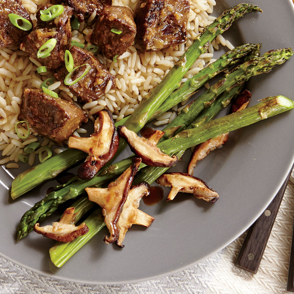 Roasted Asparagus and Shiitake Mushrooms