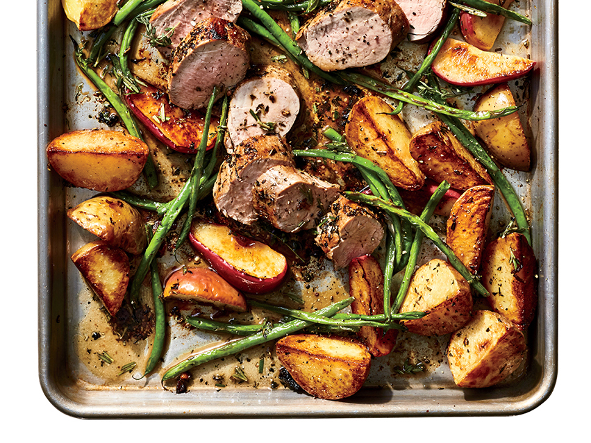 Roasted Pork with Apples and Potatoes