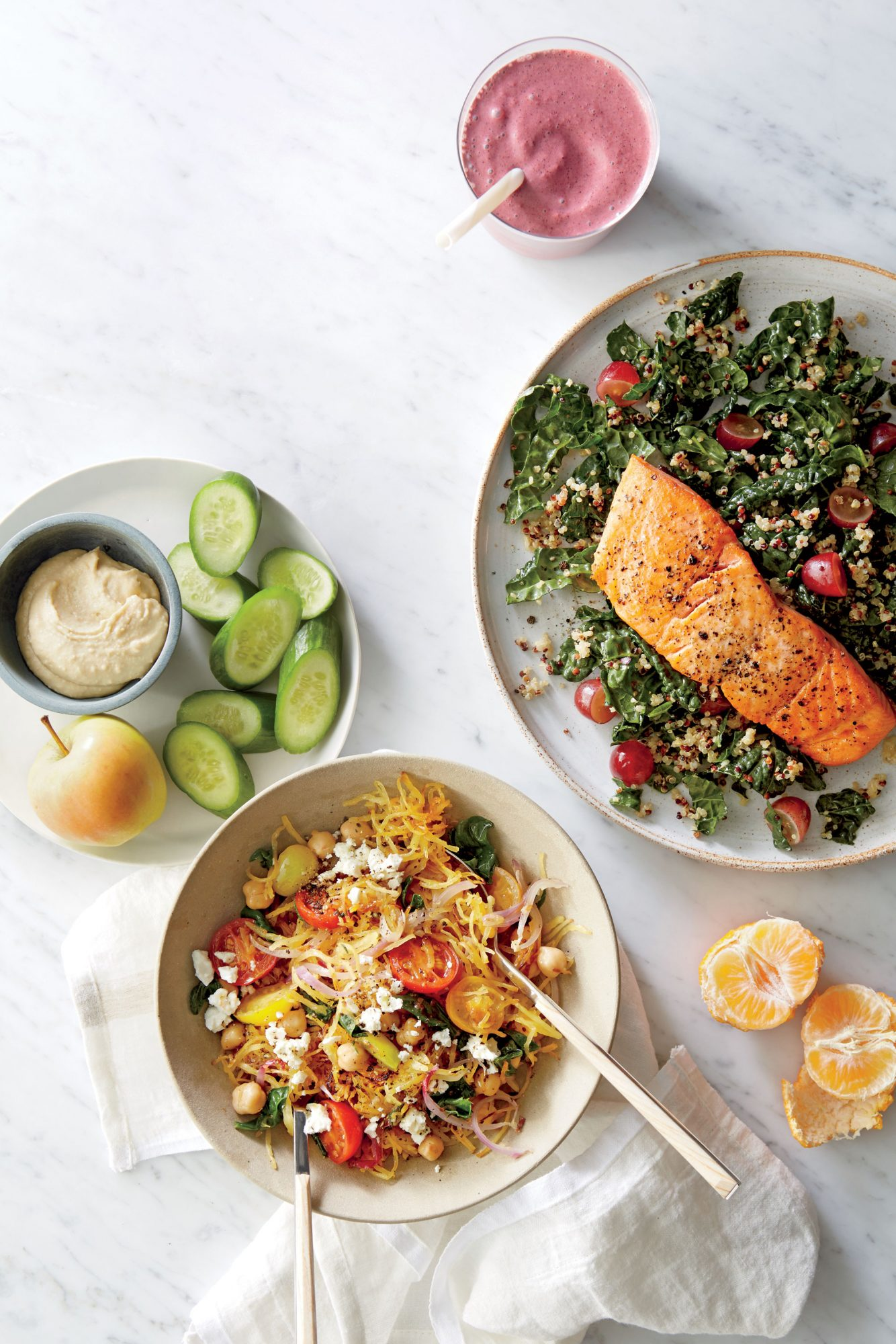 Roasted Salmon with Kale-Quinoa Salad image