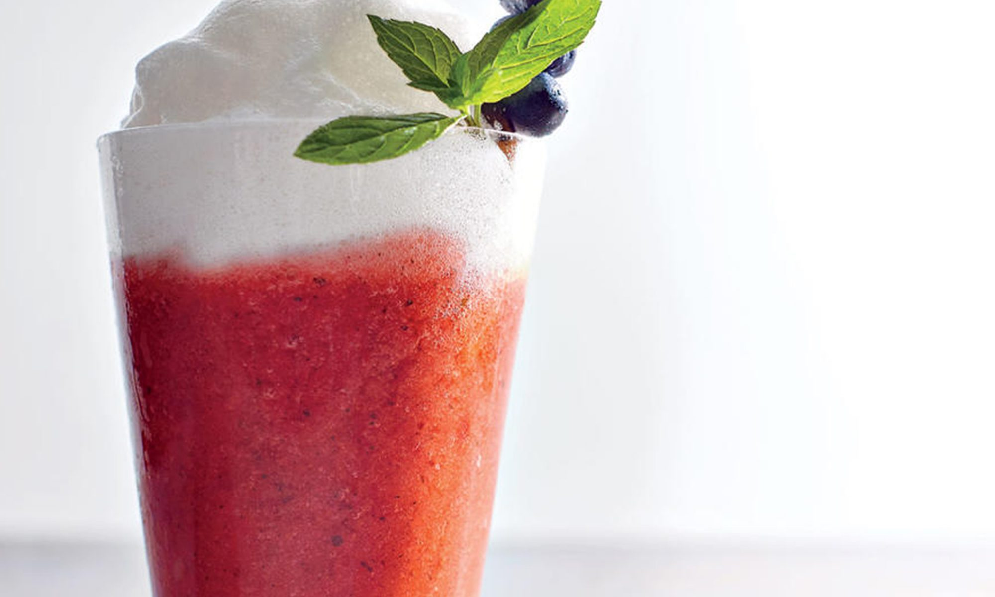Roasted Strawberry Margaritas with Aquafaba Whip