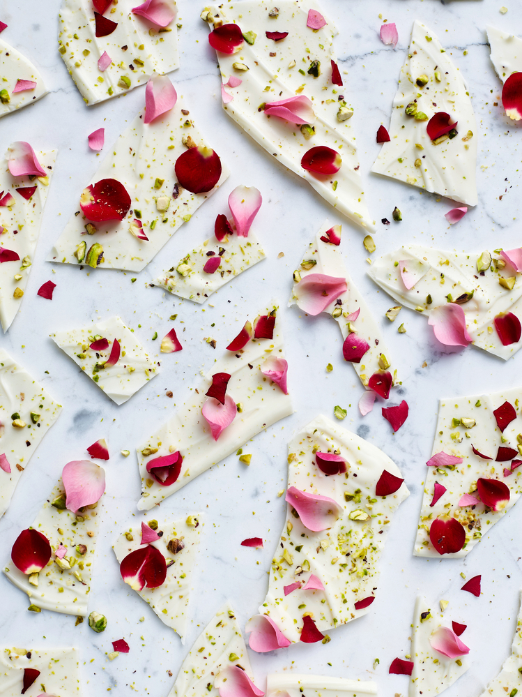 Rose Petal-White Chocolate Bark