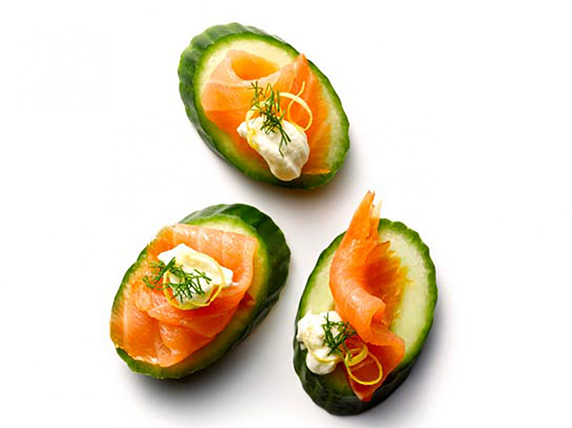 Salmon and Cucumber Bites