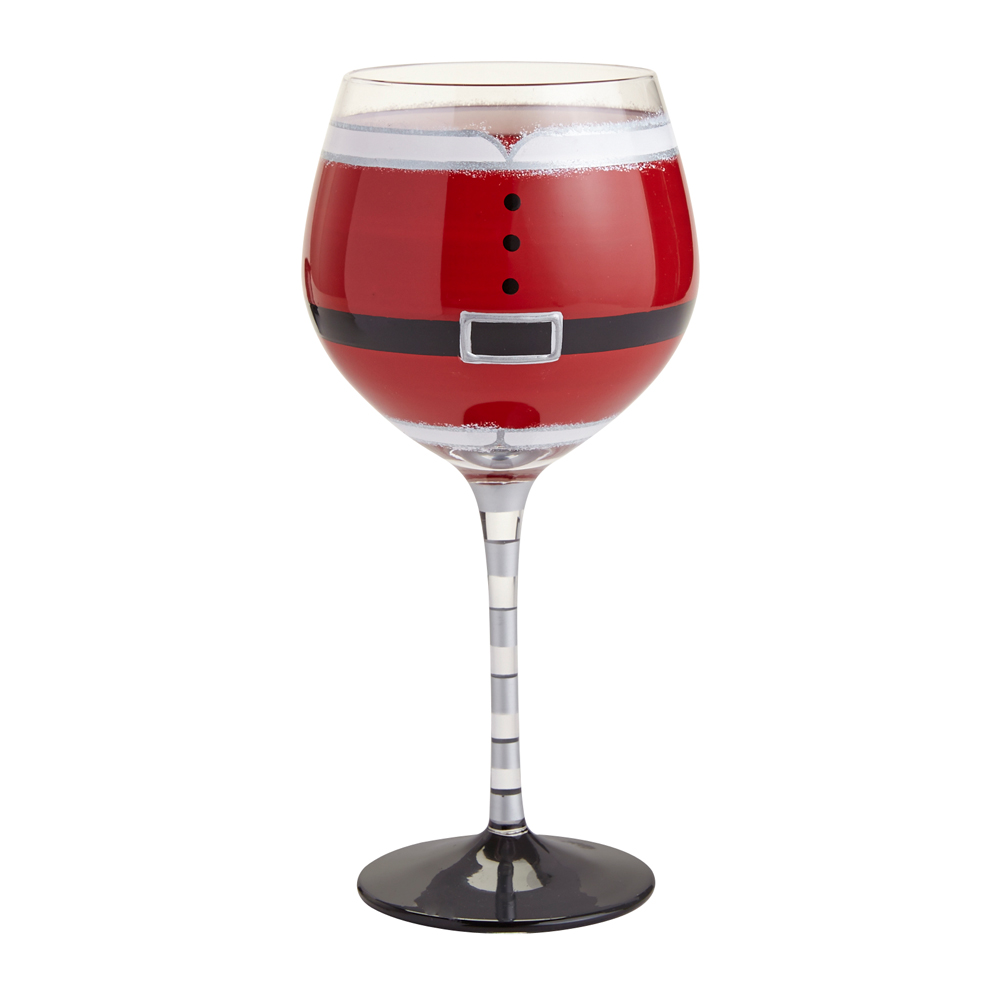 Santa Belly Frosted Stemware